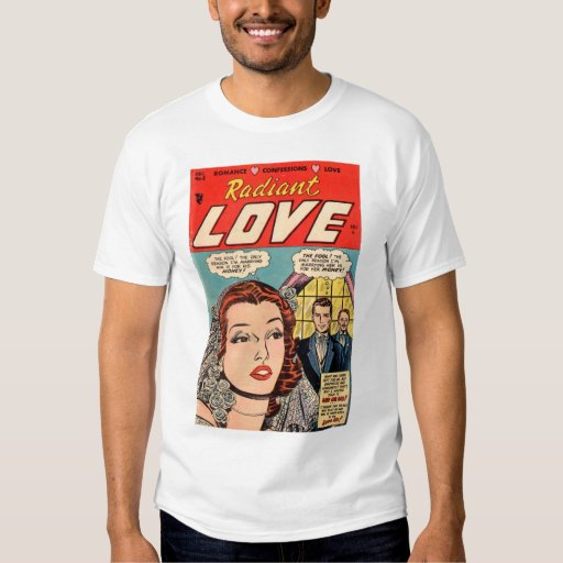 Camiseta radiante del amor #2 playeras