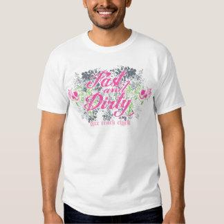 Camiseta rápida y sucia del polluelo de la pista playeras