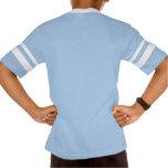 Camiseta rayada retra del cuello en v de la manga