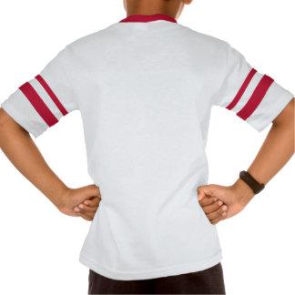 Camiseta rayada retra del cuello en v de la manga playera