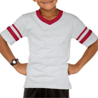 Camiseta rayada retra del cuello en v de la manga playeras