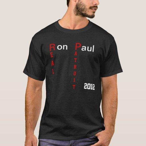 Camiseta real 2012 del patriota de Ron Paul