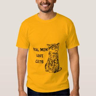 Camiseta REAL de los GATOS del AMOR de los HOMBRES Playera