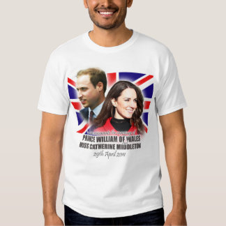Camiseta real del boda de Guillermo y de Kate Remeras