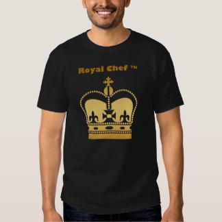 Camiseta real del negro del oro del cocinero remeras