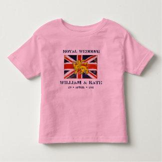 Camiseta real del niño del boda de Guillermo y de