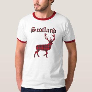 Camiseta real escocesa del macho de la montaña del polera