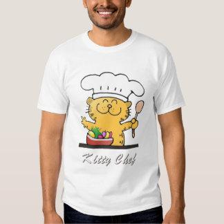 Camiseta realmente linda del negro del cocinero poleras