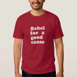 Camiseta rebelde de la rebelión del activista de playeras