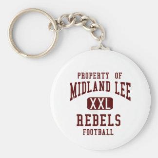 Camiseta rebelde de Midland Lee Llavero Redondo Tipo Pin