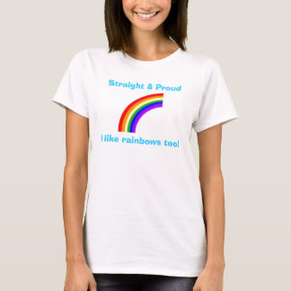 Camiseta recta y orgullosa del arco iris