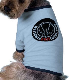 Camiseta redonda del campanero del mascota del log camiseta con mangas para perro