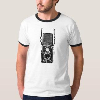 Camiseta refleja de la cámara del vintage de la
