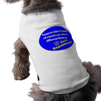 Camiseta republicana anti playera sin mangas para perro
