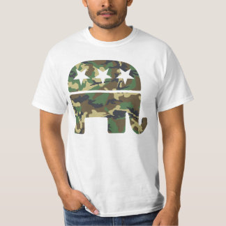 Camiseta republicana del elefante del camuflaje