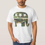 Camiseta republicana del elefante del camuflaje playeras