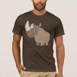 Camiseta reservada del rinoceronte del dibujo