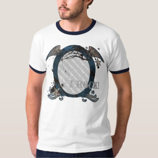 Camiseta retra adaptable de la foto del eje de