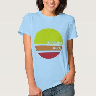 Camiseta retra de Huntington Beach Poleras