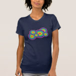 Camiseta retra de la burbuja del arco iris