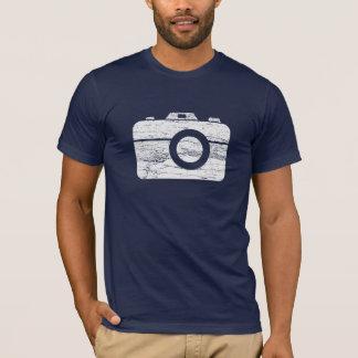 Camiseta retra de la cámara del vintage