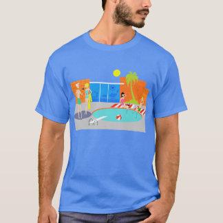 Camiseta retra de la fiesta en la piscina