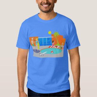 Camiseta retra de la fiesta en la piscina camisas
