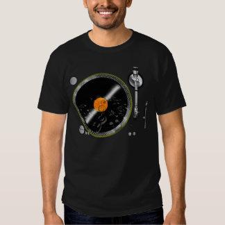 Camiseta retra de la placa giratoria playera