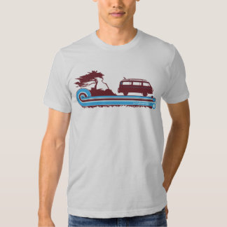 """Camiseta retra de la resaca de """"Longboarder"""" en Polera"""