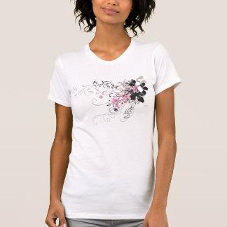 Camiseta retra de las flores playera