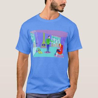 Camiseta retra de las vacaciones del esquí