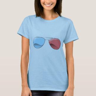 camiseta retra de los vidrios 3D