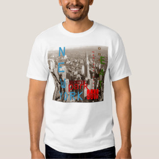 Camiseta retra de New York City de la sepia Playera