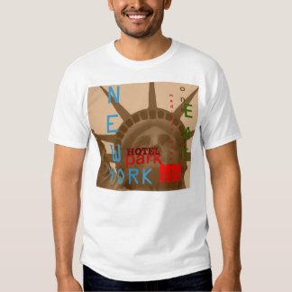 Camiseta retra de New York City de la sepia Remera