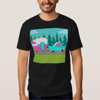 Camiseta retra del campista/del remolque y del polera