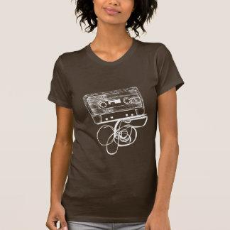 Camiseta retra del casete audio - negro remeras