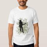 Camiseta retra del chica de la roca poleras