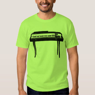 Camiseta retra del ejemplo del órgano playeras