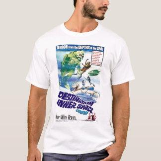 Camiseta retra del espacio interno del destino