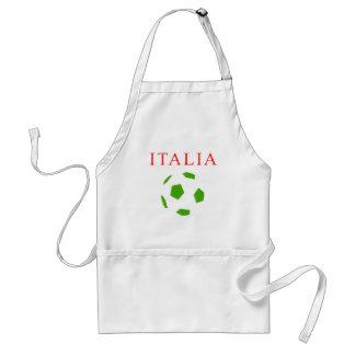 camiseta retra del fútbol de Italia Delantales