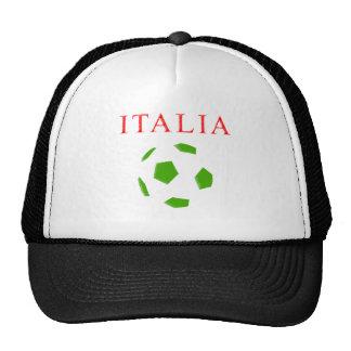 camiseta retra del fútbol de Italia Gorro