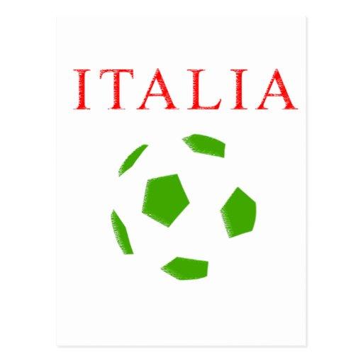 camiseta retra del fútbol de Italia Tarjeta Postal
