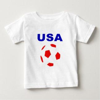 camiseta retra del fútbol de los E.E.U.U. Playeras