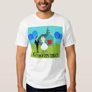 Camiseta retra del padrino de boda de los pares remeras