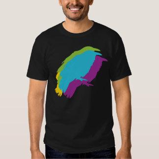 Camiseta retra del pájaro del cuervo del vintage playera