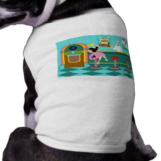 Camiseta retra del perro de la fuente de soda playera sin mangas para perro