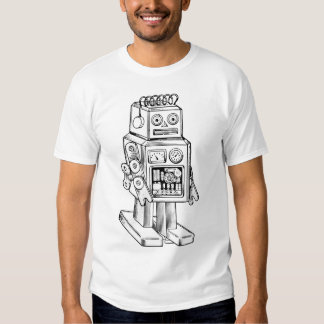 camiseta retra del robot de los años 50 playeras