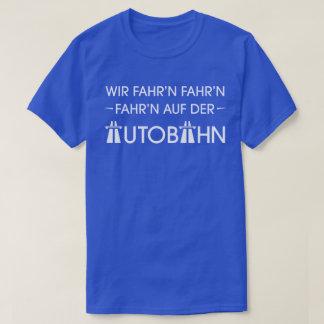 Camiseta retra fresca del lema de la autopista playera
