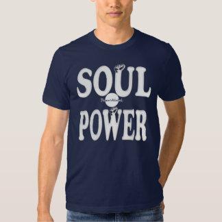 Camiseta retra fresca del poder del alma de playeras