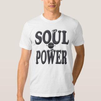 Camiseta retra fresca del poder del alma de poleras